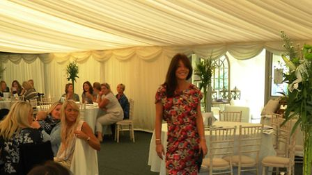Anna Park modelling at the charity event at Chippenham