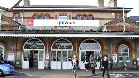 Trains were cancelled at Ipswich station along with other stations around East Anglia on Tuesday mor
