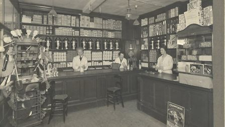 A shot of James Bontell's Grocery and Provisions shop, in Bank Street, Braintree. The exact date is