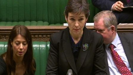 Shadow Secretary of State for Environment, Food and Rural Affairs Mary Creagh MP in the House of Com