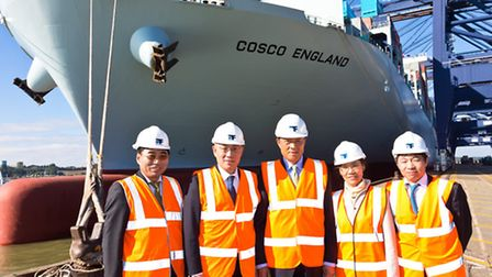 Clemence Cheng, CEO of Hutchison Ports (UK) Limited (second left) and His Excellency Liu Xiaoming, A