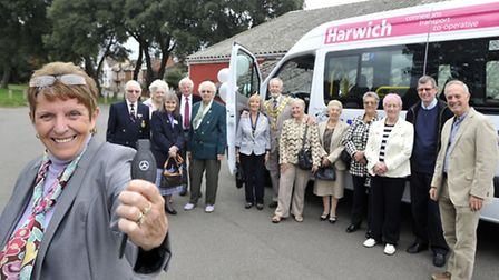 Harwich Connexions Operations Manager Debbie Rotchell holds the keys to a new 16-seater minibus