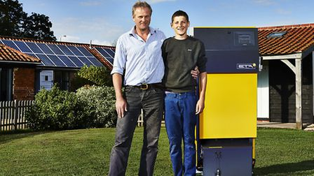 Second-generation farmer Robbie Gawthrop of East Green, pictured with son, Jack, has rarely looked b
