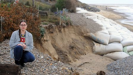 The shingle coastline at Thorpeness suffered a battering by the bad weather over the last couple of
