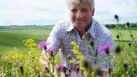 Robert Law of Thrift Farm, Royston, a Conservation Grade farmer who commits at least 10% of his Hert