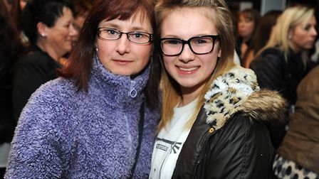 Band Blue are performing at the Regent in Ipswich. Blue fans gather before the performance. Left to