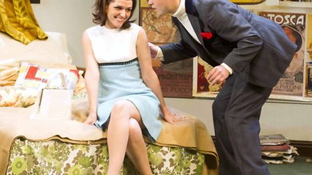 The Private Ear, The Public Eye by The Original Theatre Company at The New Wolsey. Siobhan O'Kelly a