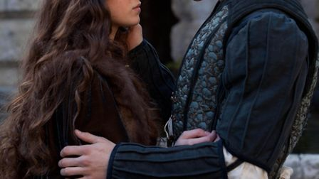 Romeo and Juliet. Pictured: Douglas Booth as Romeo and Hailee Steinfeld as Juliet.