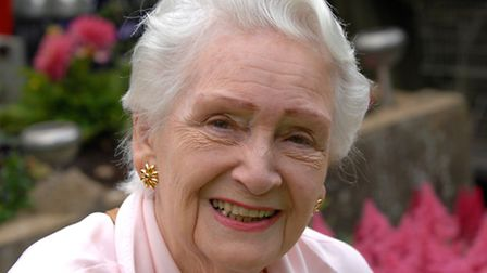 Jean Kent celebrates her 90th birthday with friends and neighbours in the village of Westhorpe