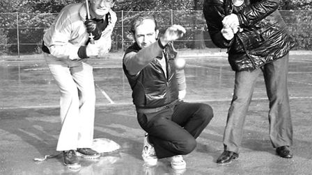 Petanque competition at Essex University October 1982
