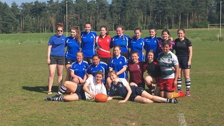 Diss Vixens Under-18s line up for the camera. Picture: Nathan Flatman.