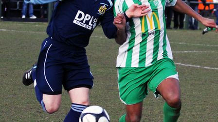 Grundisburgh, seen here in action against Whitton in the Suffolk Senior Cup Semi-Final in 2012 , are