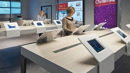 Argos's new trial store in Old Street, London, where tablet computers will replace the retailer's tr