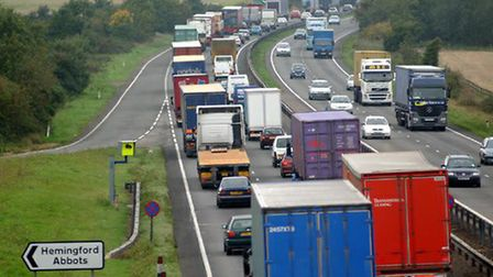 A stretch of the A14 at Huntingdon, which could be tolled