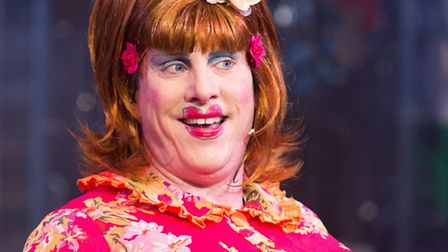 Sean Kingsley as Dame Sarah the Cook in Dick Whittington, this year's rock'n'roll pantomime at the N