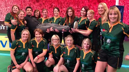 Bury Foxes women's rugby team pick up presenter Craig Doyle on BT Sports show Rugby Tonight.