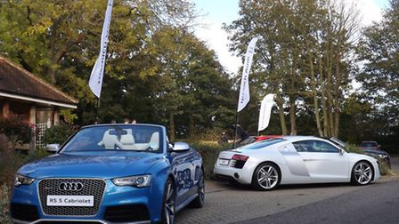 Some of the high-performance models at the Audi Sport Showcase event at Bildeston Crown.