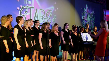 The glittering Stars of Suffolk awards night held at Suffolk New College The Military Wives Choir f