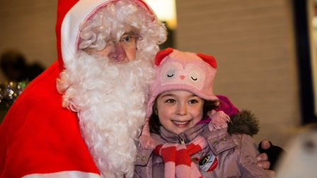 Father Christmas even appeared for the event in Stowmarket