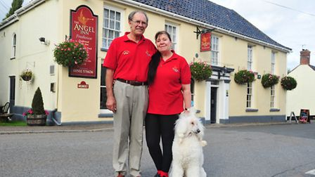 Peter and Christine White from the Angel Inn at Wangford