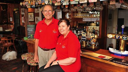 Peter and Christine White from the Angel Inn at Wangford will appear on Four in Bed next week