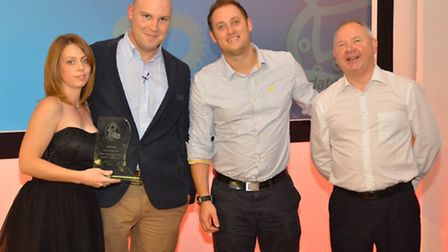 The CAA team with the Claims Management Company Repairers Choice Award presented to the firm at the