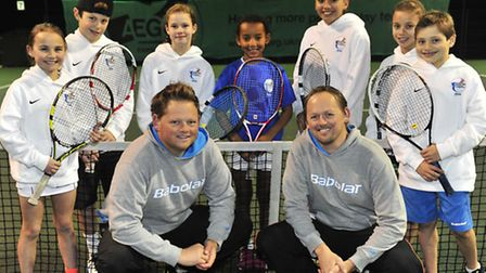 Seven youngsters from Ipswich Sports Club who have been granted funding by the Lawn Tennis Associati