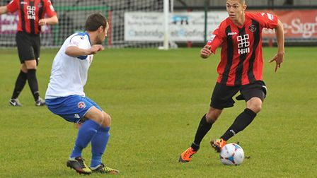David October in action for Histon