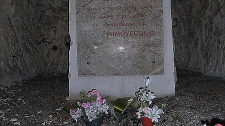 A memorial for Joseph Kennedy Jr. at Mimoyecques, which during the war was a site for a Nazi supergu