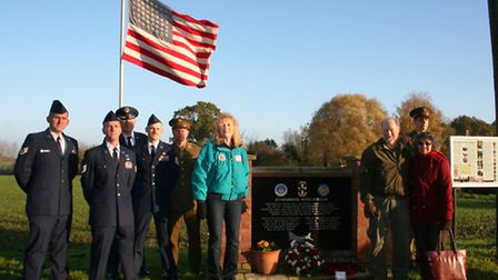 A service was held in Redlingfield 70 years after the fatal crash involving the B-17 bomber