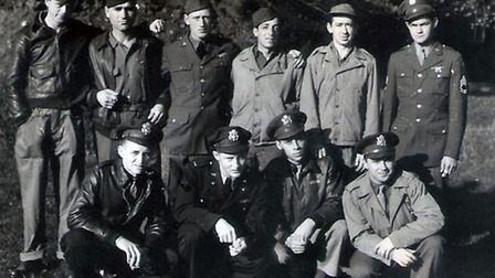 Some of the bomber crew who flew on the day the plane crashed into the farmhouse