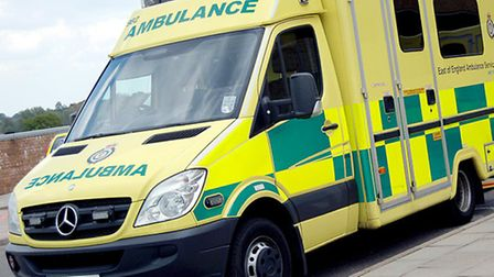 A cyclist has been injured in a crash in Bury St Edmunds