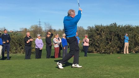 Paul Wright - keeping with tradition at the 'drive in'. Picture: Diss GC