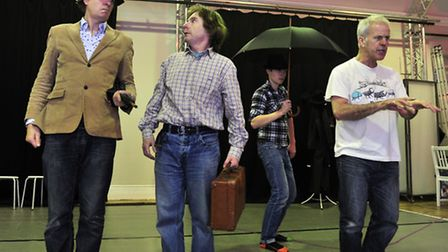 Actors in rehearsal for new play Britten's Got Talent