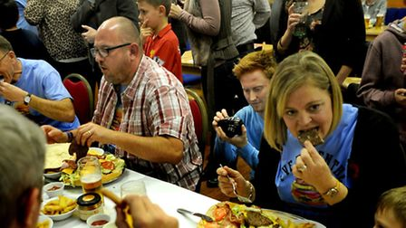 Food for thought: Taking on the daunting Beefy Burger Challenge at the Moreton Hall Community Centre