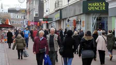 Shoppers in Ipswich town centre.