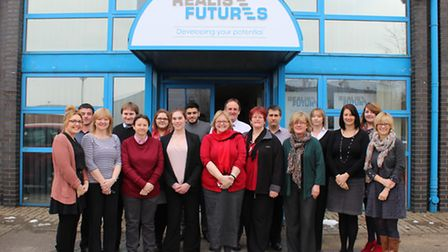 Members of the Realise Futures team at the opening of the organisation's new offices in Ipswich earl