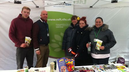 Members of Suffolk Alcohol Treatment Service, the Matthew Project and Live Well Suffolk at their sta