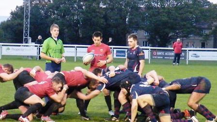 Scrum action from Colchester's game