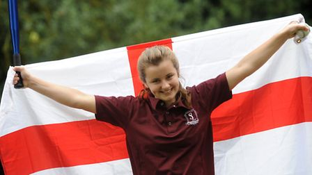 Ellie Steggles has been called up to the England U14s squad for rounders. Ellie is pictured at South