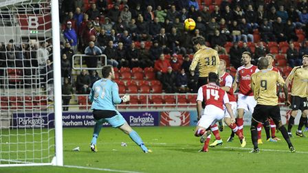 Elliott Lee scores Colchester's late late injury time equaliser at Rotherham. But the West Ham loane
