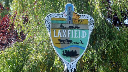 Laxfield village sign. Picture: Phil Morley/EADT