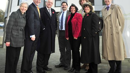 The Launch of The Surviving Winter Campaign. Helen Taylor, Stephen Singleton, Terry Hunt, Prof Noel