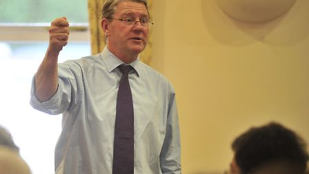 Peter Kendall, outgoing president of the National Farmers' Union speaking to Suffolk Farmers