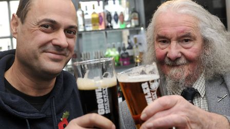 Current Growler Brewery head brewer Paul Gower and former head brewer and creator of Old Growler Dr