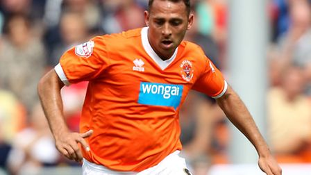 Michael Chopra in action for Blackpool