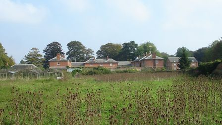 The walled garden at Sudbourne Park, where homes will be built to fund the restoration of the estate