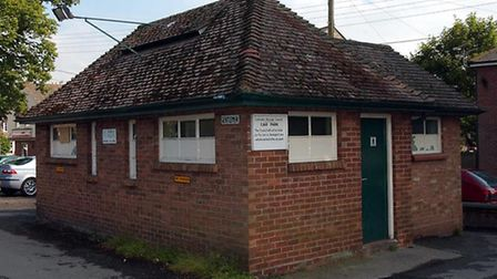 Wivenhoe's public lavatories - not much to look at but a very important feature of the town