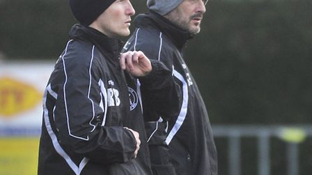 Leiston boss Steve Ball (right) has made a big impact at Victory Road