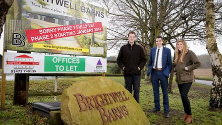 Lloyds Bank Commercial Banking relationship manager Christian Lingley, centre, with brother and sis
